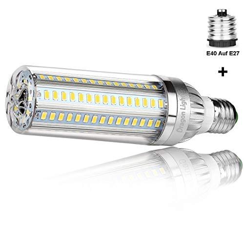 25W Superhelle Mais Licht LED Glühbirne(Ersetzt 200Watt) - E27 Edison LED Lampe mit E40 Adapter - 6500K Kaltweiß 2900 Lumen für Gewerblichen Bereich Beleuchtung - Garage Lagerhaus Werkstatt Fabrik Hof (Led-licht-lampe 100 Watt)