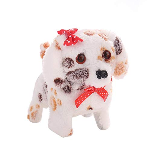 Wenwenzui-ES Niedliche Roboter Elektronische Walking Pet Dog Plüsch Spielzeug Hund Vorwärts Rückwärts Puppe mit Stimme Geschenk für Kinder - Walking-spielzeug-roboter