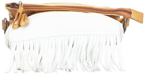 Maze MBA-31-Minnesota MBA14, Damen Schultertaschen 21x25x4 cm (B x H x T) Mehrfarbig (white/camel 1200)