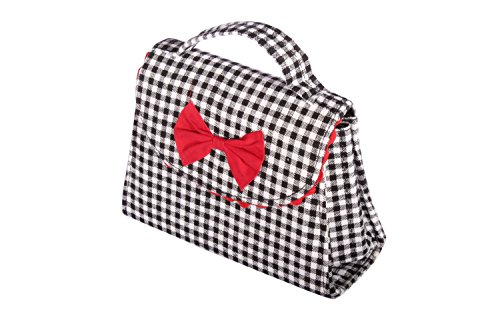 Fifties GINGHAM rockabilly BOW Karo Tasche Köfferchen Handtasche
