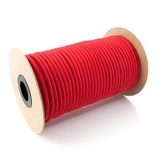 5m GUMMISEIL 5mm Expanderseil ROT Gummischnur Gummikordel Gummiseile Spannseil Planenseil Gummileine Seil Plane Netz