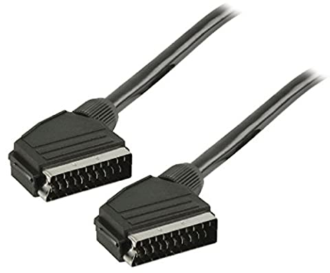 10M Long 21 Pin Scart To Scart Lead Cable Tv Dvd Sky Silver 10 Metre Fully Wired