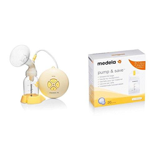 Extractor Medela Swing + Bolsas para congelar la leche materna