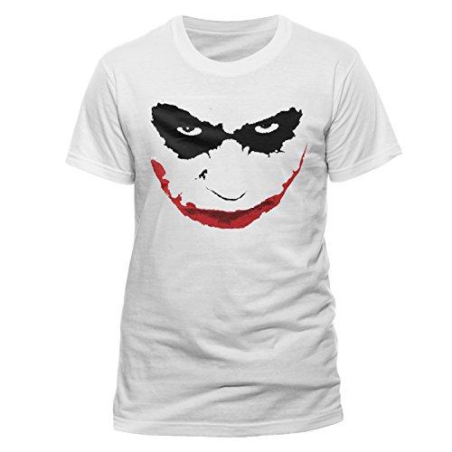 Batman The Dark Night T-Shirt Joker Offizielles Lizenzprodukt weiß-L