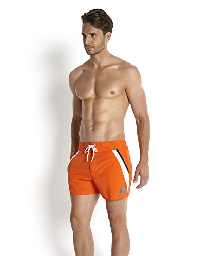 Speedo Herren Retro Freizeit-Watershorts 14 zoll Orange(Orange/Navy)