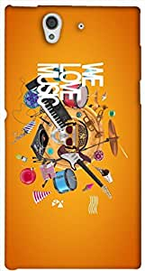 Amazing 3D multicolor printed protective REBEL mobile back cover for Sony Xperia Z L36H - D.No-DEZ-1965-s36