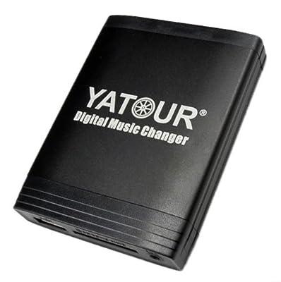 Yatour Adaptateur USB SD AUX MP3 et système mains libres Bluetooth pour Alfa Romeo 147 / 156 / 159 / 166 / Brera / Mito / GT Spider // Fiat Doblo 500 / Bravo à partir de 2007 / Croma à partir de 2005 / Doblo à partir de 2001 / Ducato à partir de 2002 /...