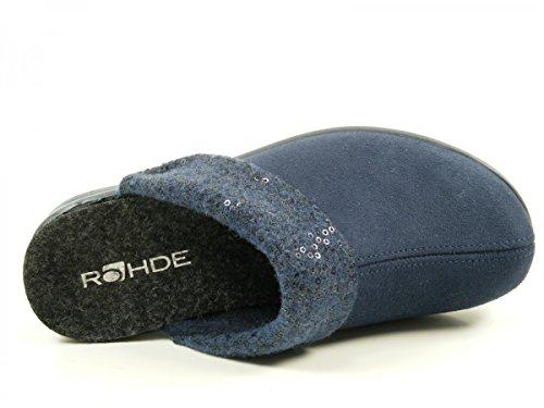 Rohde - 2411, Pantofole Donna Blue (Blue)