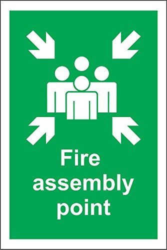 FIRE ASSEMBLY POINT - A4 HEALTH AND SAFETY SIGN IN RIGID PVC WATERPROOF
