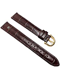 Maurice Lacroix Louisiana XL Replacement Band Watch Band Leather Strap dark brown 22005G, Abutting:20 mm