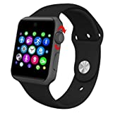 #9: sampi Apple iPhone 7 Plus 128GB Compatible Bluetooth SmartWatch with Camera SIM Card Slot and Pedometer Smart Health, Sleep Monitoring, Better Display, Loud Speaker, Microphone, Touch Screen, Multi-Language Watch for Android and IOS Smartphone Best Selling High Quality By sampi