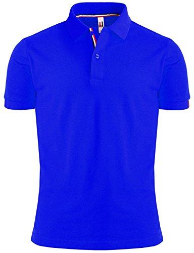 BCPOLO Mann-Baumwollpolohemd Klassisches Design 7 Farben t?glich tragen Shirt Konigsblau