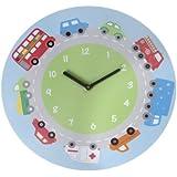 Childrens Camiones, autobuses y Auto Reloj