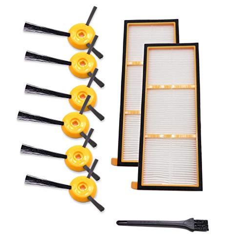 Vamoro Staubsaugeraufsatz Zubehör-Sets Waschsauger-Zubehör Ersatz-Seitenbürsten Filter für Shark ION RV700 RV720 RV750 RV750C RV755 Neu 2 Filter,6 Seitenbürste,1Reinigungsbürste
