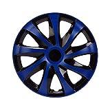 Unitec 75569 Copricerchi Daytona 16 Pollici Nero // Argento Set di 4