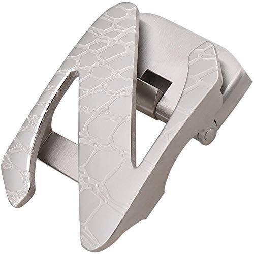 Defect Cinturón Hebilla de Business Casual automático Hebilla Hebilla de Cabeza Mens Hebilla cocodrilo patrón Acero Hebilla de cinturón