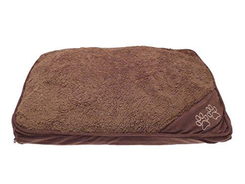 Cuscino cuccia per cani e gatti antiscivolo - lavabile-sfoderabile e waterproof - letto per cani/gatti - colore marrone