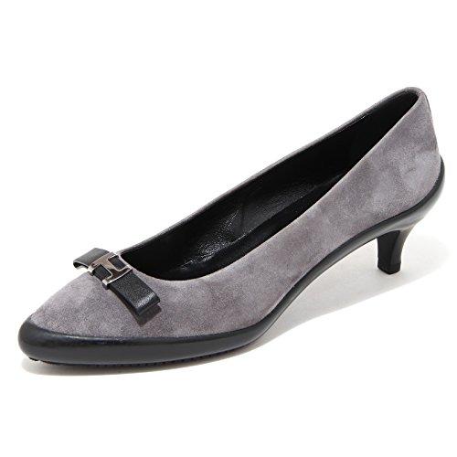 donna shoes decoolete FIOCCO Grigio women scarpa ballerina HOGAN 65928 CpXwq6wT