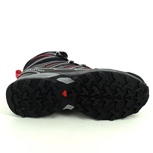 Salomon X Ultra Mid 2, Chaussures Bébé Marche Femme, Gris Gris-Rose