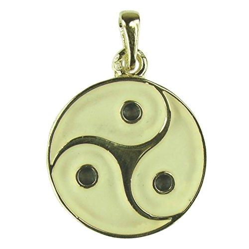 Souvenirs de France - Médaille Celtique Triskel de Bretagne - Matériau : Argent Plein, Plaqué Or ou Or Plein 18-Carats