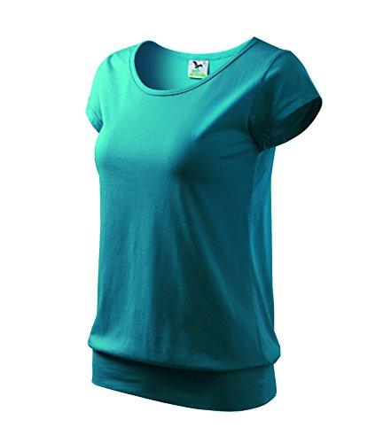 T-Shirt Ladies City Damenshirt 100% Baumwolle - Größe und Farbe wählbar- (M, dunkel türkis) (T-shirt Adler)
