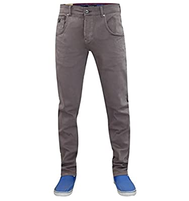 New Men's Firetrap Slim Fit Tapered Engineered Twisted Leg Stretch Cotton Denim