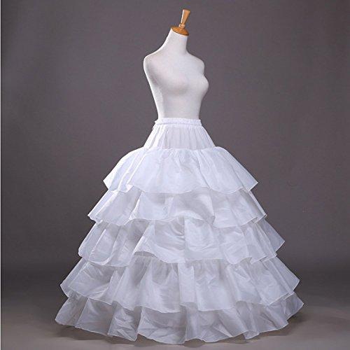 RuiyuhongE Damen Unterrock One size Weiß