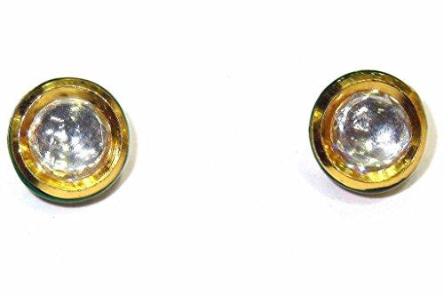 Shingar jewellery Ksvk Jewels Gold Plated Polki Kundan Earrings Danglers Studs For Women (6415-ace-kundan-299-s-2)  available at amazon for Rs.269