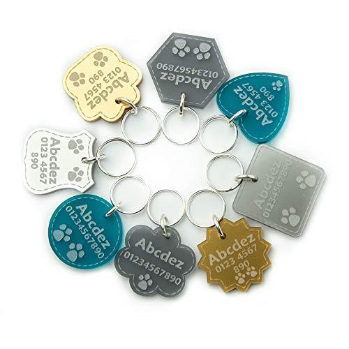 National Engraver Medaglietta Identificativa per Cani e Gatti e Animali Targhette Incisione Personalizzato Premium
