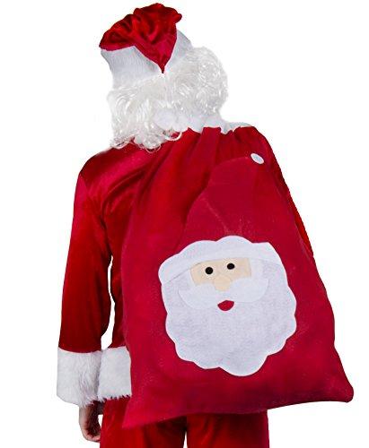Gigante sacco babbo natale (33 pollici x 23 pollici) grande calza natale borsa babbo natale borsa regalo borsa babbo natale sacco