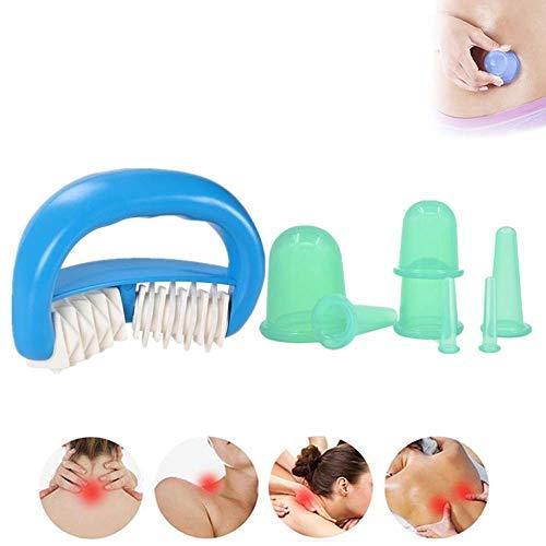 DBSCD Anti-Aging-Massage-Körbchen Gesichts-Schröpfen-Therapie-Set Silikon Portable für Arthritis, Muskelkrämpfe, Triggerpunkt, Schmerzlinderung, Lymph-Anti-Cellulite-Körbchen -