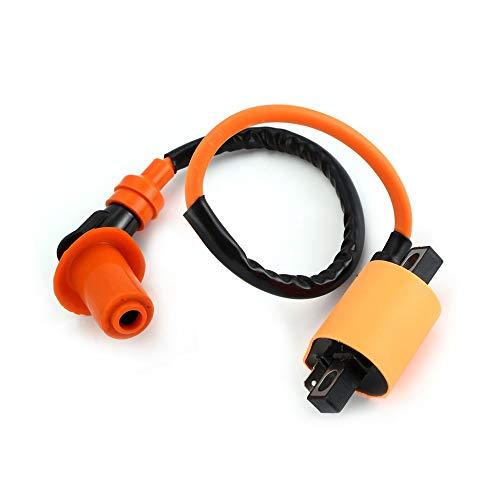 tyughjytu Modificato bobina di accensione 6-Pin AC Accenditore A7TC Candela Per GY6 50/125 / 150CC