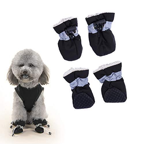 POPETPOP Botas para Perro Protector de Pata a Prueba de Agua, Zapatos de protección para Mascotas con Suela Antideslizante (tamaño 2)