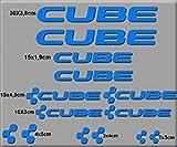 ECOSHIRT Aufkleber Cube Bike UCI MTB Vinyl ADESIVI Decal Aufkleber Purpur(Talla M), MTB Stickers Bike, Blau