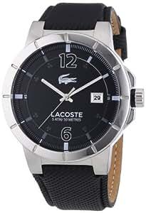 Lacoste - 2010727 - Montre Homme - Quartz Analogique - Bracelet Cuir Noir