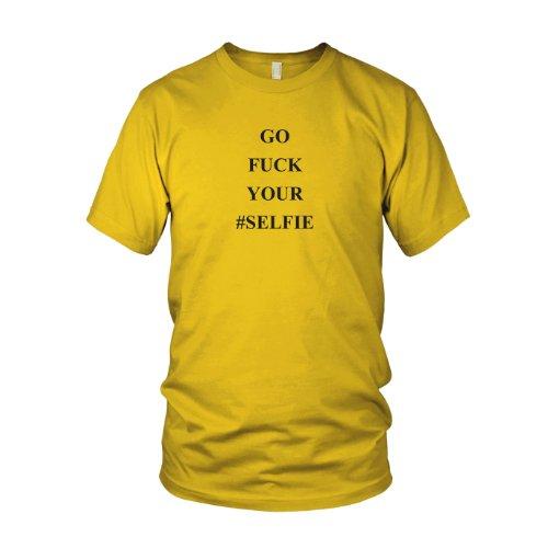 Go Fuck your Selfie - Herren T-Shirt Gelb