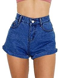 GOLDSTITCH Damen Jeans Shorts Kurze Denim Hose aus Stretch-Material Regular  Fit f8b542380a