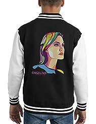 Geometric Celebrity Angelina Jolie Kid's Varsity Jacket