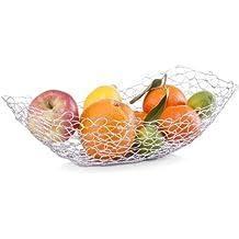 Zeller 2058008 Corbeille à Fruit Ovale Chrome 38 x 20 x 11 cm