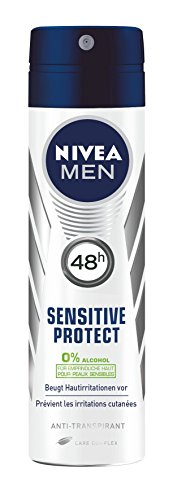 Uomini Nivea Deodorant Spray antitraspirante Protect Sensitive 4 Pack (4 x 150 ml)