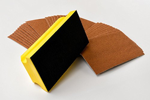 Schleifklotz inkl. Schleifmittel je 10x K40/80/150 (1)