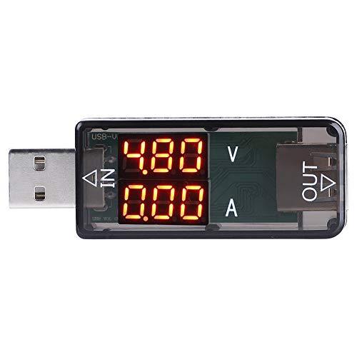 Akozon USB Tester USB Farbe LCD Voltmeter USB Amperemeter Stromzähler Multimeter Ladegerät USB Tester(Schwarz) Lcd-voltmeter