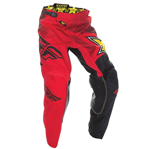 Fly Kinetic para hombre Motocross Off Road pantalones pantalones–Rockstar–rojo/negro