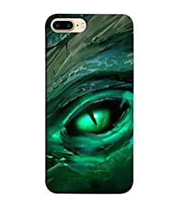 PrintVisa Green Eye 3D Hard Polycarbonate Designer Back Case Cover for Apple iPhone 7 Plus