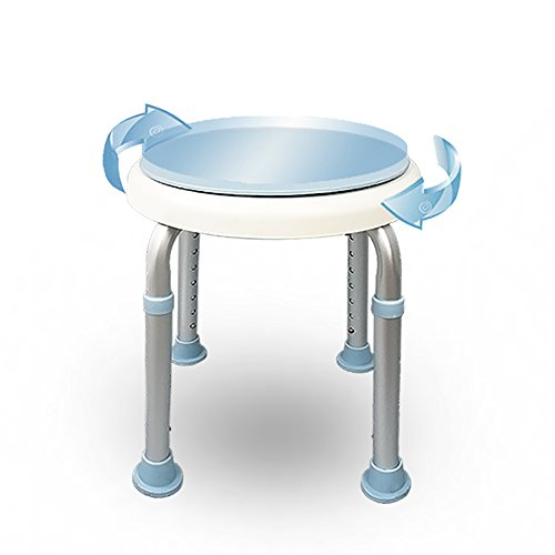 LJHA Tabouret Pliable Rotatif Cratif Chaise En Aluminium De Bain Dalliage