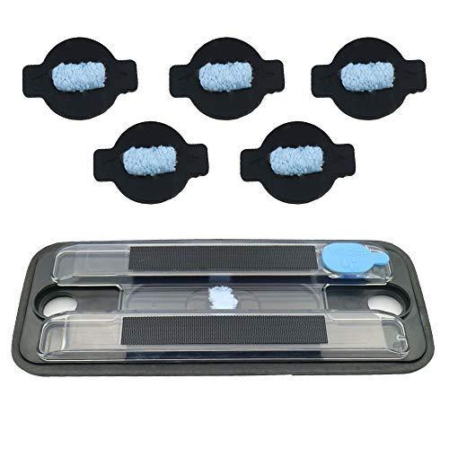 VacFit Wasserdochtkappen-Set für iRobot Braava 380 380t 320 Mint 4200 4205 5200 5200C Roboter Ersatzteile 5 Stück 6pcs Wick Cap + Reservoir Pad