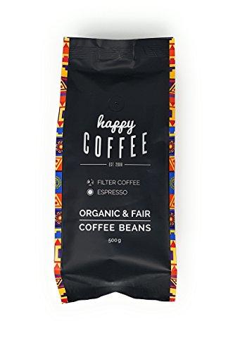 HAPPY COFFEE Bio Kaffee GEMAHLEN | Fairtrade Arabica Kaffee direkt aus Mexiko | Schonend geröstet in Hamburg | Perfekt für Filterkaffee und French Press | Im 500g Pack