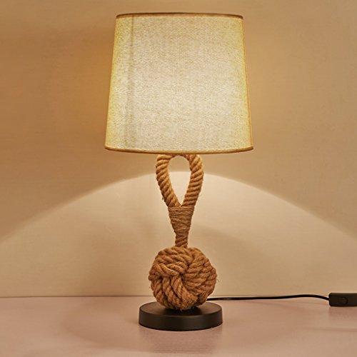 Lámparas de escritorio Lámparas de mesa y mesilla Lámpara de mesa creativa de la cuerda, cortina...