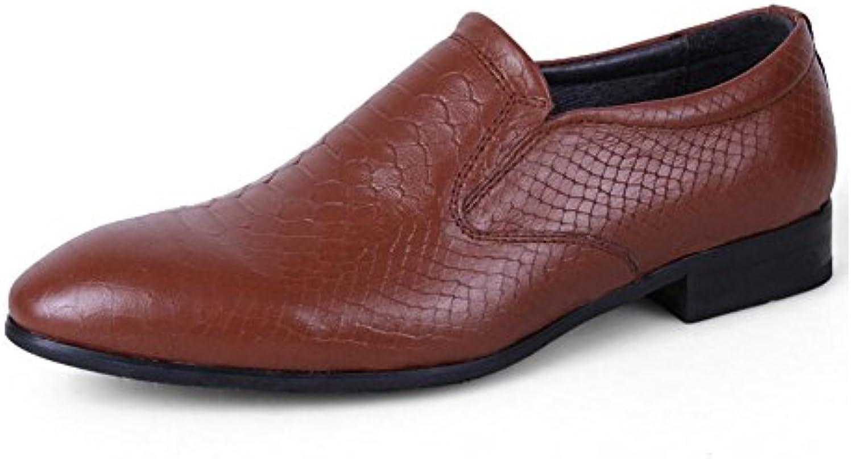 Herrenschuhe Frühling Herbst  Leder Komfort Schnürschuhe  Formale Mode Fahr Schuhe  Büro  Karriere Kleid  Formale
