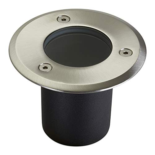LED Bodeneinbaustrahler ALFA MINI rund Ø 100 mm Edelstahl IP67 GU10-230V Gartenstrahler Bodenleuchte (ohne Leuchtmittel) von SO-TECH